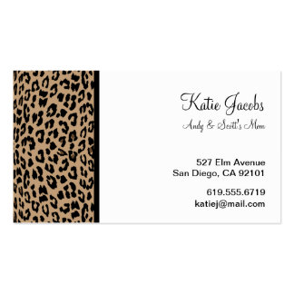 Leopard Social Calling Cards Business Card