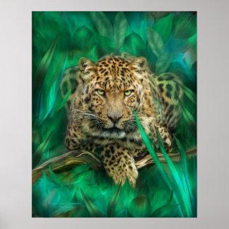 Leopard - Spirit Of Empowerment Art Poster/Print Poster