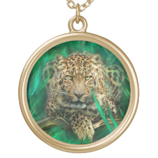 Leopard - Spirit Of Independence Art Neclace Gold Plated Necklace