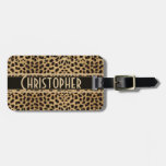 Leopard Spot Address Personalized Tag For Luggage