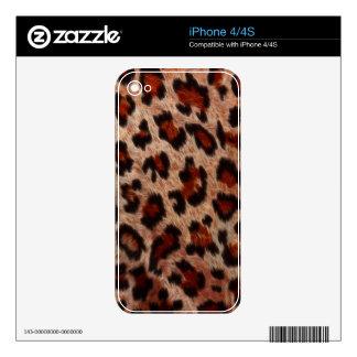 Leopard Spot Fur Wildlife iPhone 4 Skin