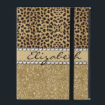 "Leopard Spot Gold Glitter Rhinestone PHOTO PRINT iPad Cover<br><div class=""desc"">Brown and beige leopard spot skin design. Leopard prints as a pattern skin. Personalize this beautiful high quality animal print design.</div>"