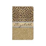 Leopard Spot Gold Glitter Rhinestone PHOTO PRINT Journals
