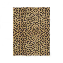 Leopard Spot Pattern Print Fleece Blanket
