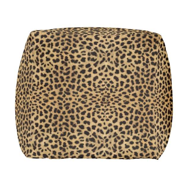 Leopard Spot Pattern Print Pouf Zazzle