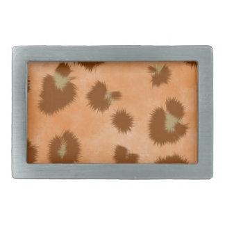 leopard spot pattern rectangular belt buckle