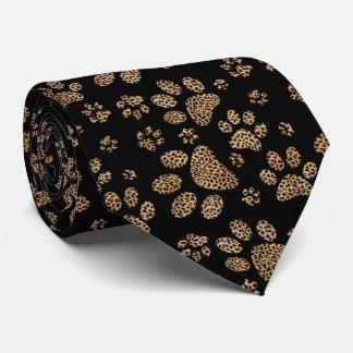 Leopard Spot Paw Prints Tie