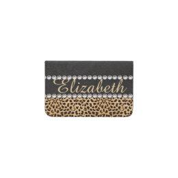 Rhinestone business card holders cases zazzle leopard spot rhinestone diamonds personalized business card holder colourmoves Image collections