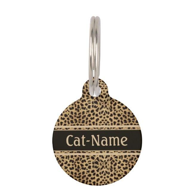 Leopard Spot Skin Personalized Pet ID Tag