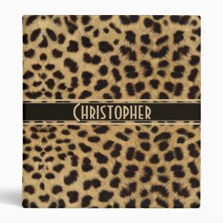 Leopard Spot Skin Print Personalized Binder