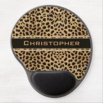 Leopard Spot Skin Print Personalized Gel Mouse Pad