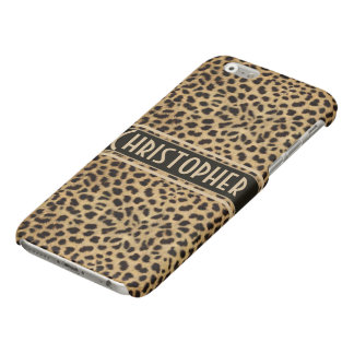 Leopard Spot Skin Print Personalized Glossy iPhone 6 Case