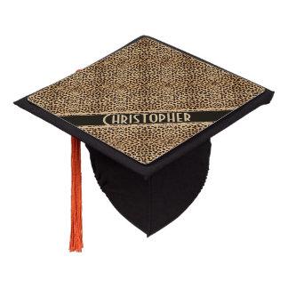 Leopard Spot Skin Print Personalized Graduation Cap Topper