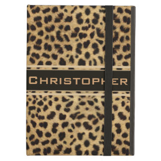 Leopard Spot Skin Print Personalized iPad Air Cover