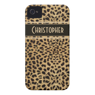 Leopard Spot Skin Print Personalized iPhone 4 Cover