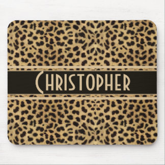 Leopard Spot Skin Print Personalized Mouse Pad