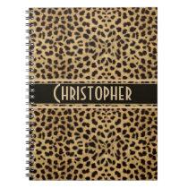 Leopard Spot Skin Print Personalized Notebook