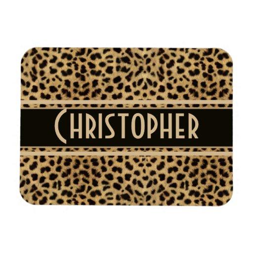 Leopard Spot Skin Print Personalized Rectangular Photo Magnet