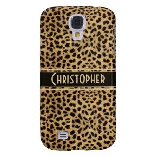 Leopard Spot Skin Print Personalized Samsung S4 Case