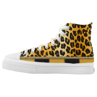 Leopard Spots Animal Print High-Top Sneakers