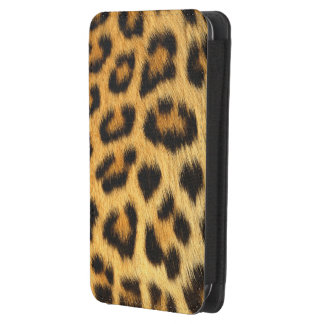 Leopard Spots Big Cat Africa Wildlife Faux Fur Galaxy S4 Pouch