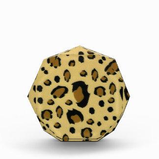 Leopard Spots Brushed Fur Texture Look Acrylic Award