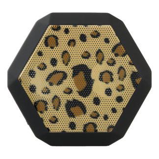 Leopard Spots Brushed Fur Texture Look Black Bluetooth Speaker