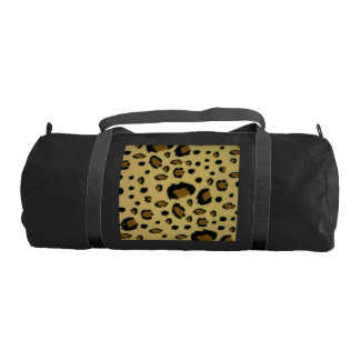 Leopard Spots Brushed Fur Texture Look Duffle Bag