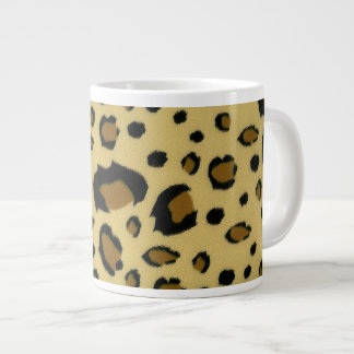 Leopard Spots Brushed Fur Texture Look Giant Coffee Mug