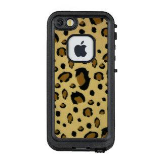 Leopard Spots Brushed Fur Texture Look LifeProof® FRĒ® iPhone 5 Case