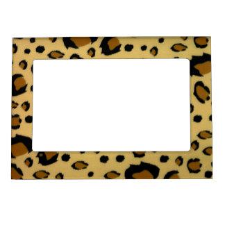 Leopard Spots Brushed Fur Texture Look Magnetic Frame