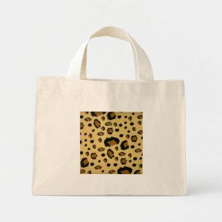 Leopard Spots Brushed Fur Texture Look Mini Tote Bag
