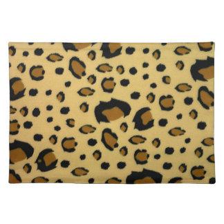 Leopard Spots Brushed Fur Texture Look Placemat