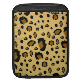 Leopard Spots Brushed Fur Texture Look Sleeve For iPads