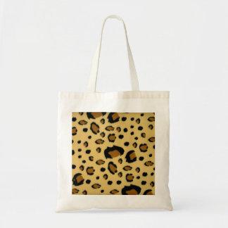 Leopard Spots Brushed Fur Texture Look Tote Bag