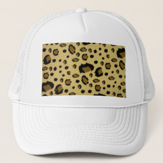 Leopard Spots Brushed Fur Texture Look Trucker Hat