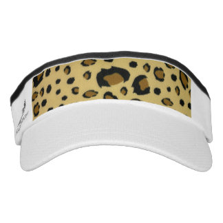 Leopard Spots Brushed Fur Texture Look Visor