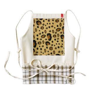 Leopard Spots Brushed Fur Texture Look Zazzle HEART Apron