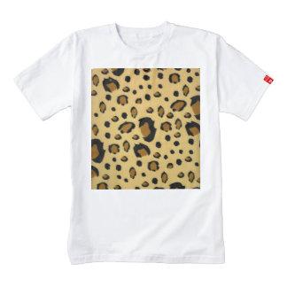 Leopard Spots Brushed Fur Texture Look Zazzle HEART T-Shirt