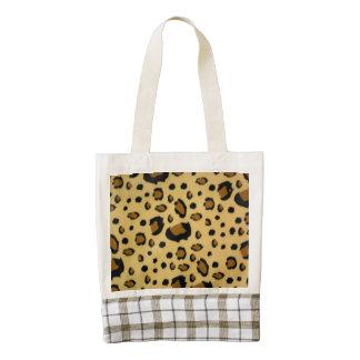 Leopard Spots Brushed Fur Texture Look Zazzle HEART Tote Bag