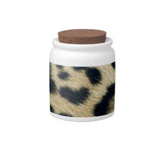 Leopard spots candy jars