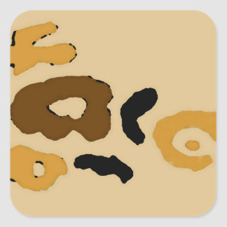 """""""Leopard Spots""""  CricketDiane Art & Design Square Sticker"""