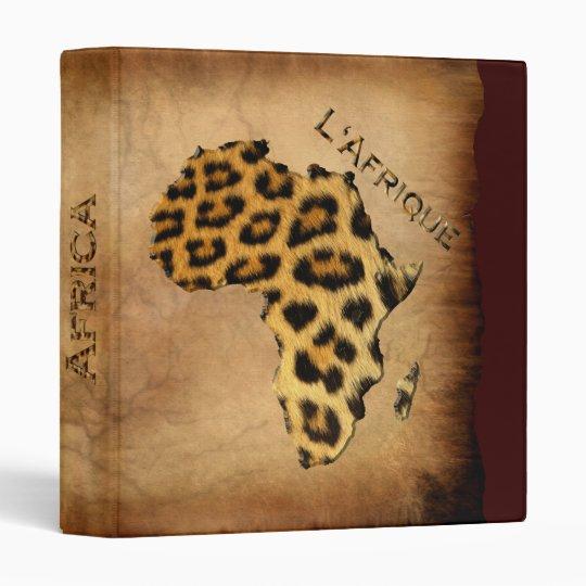 Leopard Spots-Effect MAP OF AFRICA Binder