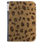 Leopard Spots Faux Fur Big Cat Kindle Keyboard Case