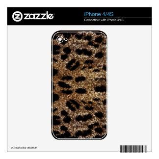 Leopard Spots Fur Wildlife iPhone 4 Skin