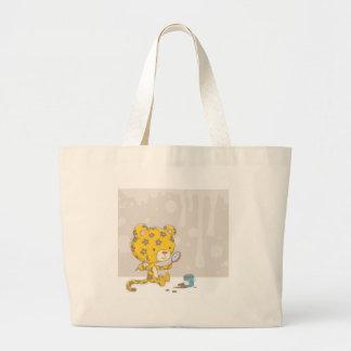 Leopard spots large tote bag
