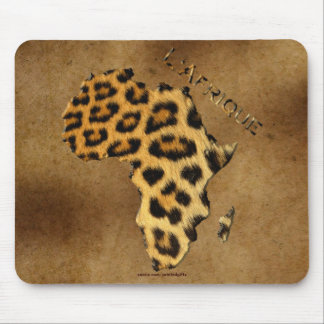 Leopard Spots Map of AFRICA on Parchment Wildlife Mouse Pad