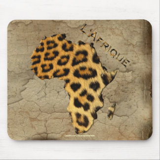 Leopard Spots Map of AFRICA Wildlife Mouse Pad