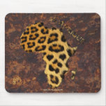Leopard Spots Map of AFRICA Wildlife Mouse Pads