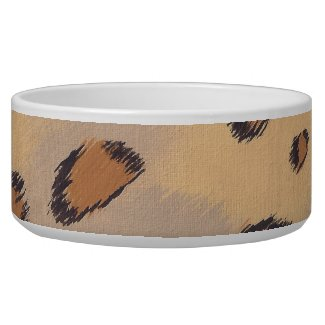 Leopard Spots Painting Custom Pet Bowls